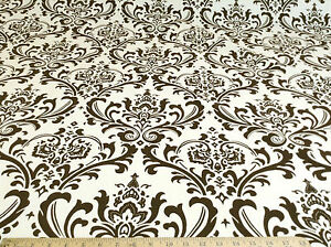 Discount-Fabric-Premier-Prints-Traditions-Chocolate-and-Natural-PR21