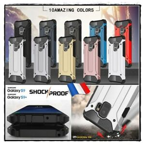 Etui-Coque-housse-Antichocs-Shockproof-HYBRIDE-Case-Samsung-Galaxy-S9-S9-plus