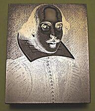 """""""WILLIAM SHAKESPEARE"""" (Portrait) PRINTING BLOCK."""