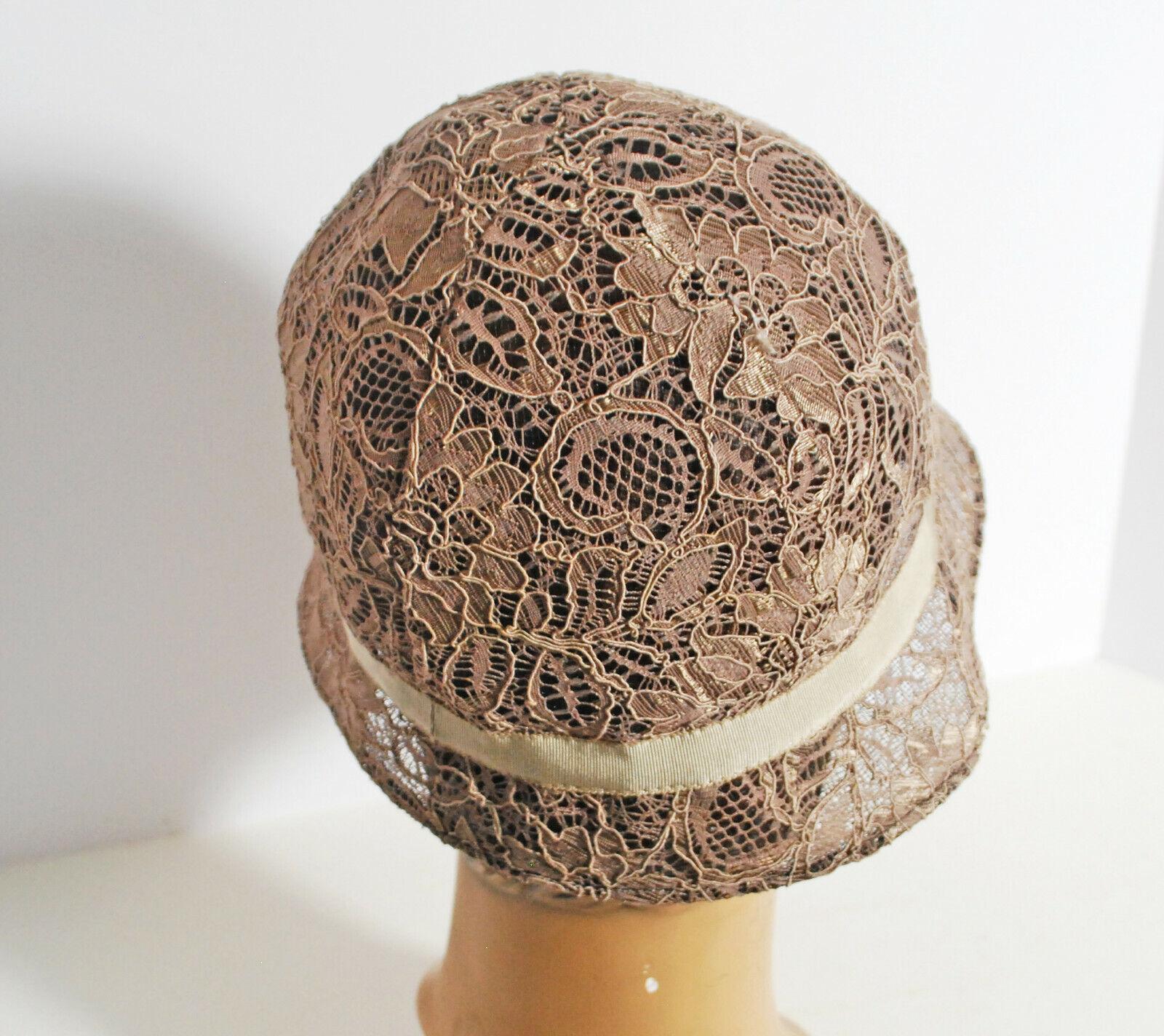 Designer Patricia Underwood Champagne Lace Cloch… - image 7