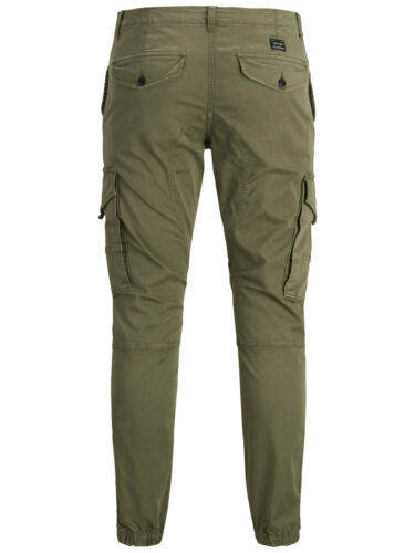 Jack /& Jones Mens Cargo Tapered Trousers Loose Fit Combat Camouflage Pants