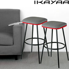 Set of 6 Metal Bar Stools Counter Pub Shop Kitchen Dining Chairs Heavy-Duty V5N3