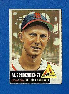 1953-Topps-Baseball-CARD-78-RED-SCHOENDIENST-HOF-EX-ST-LOUIS-CARDINALS
