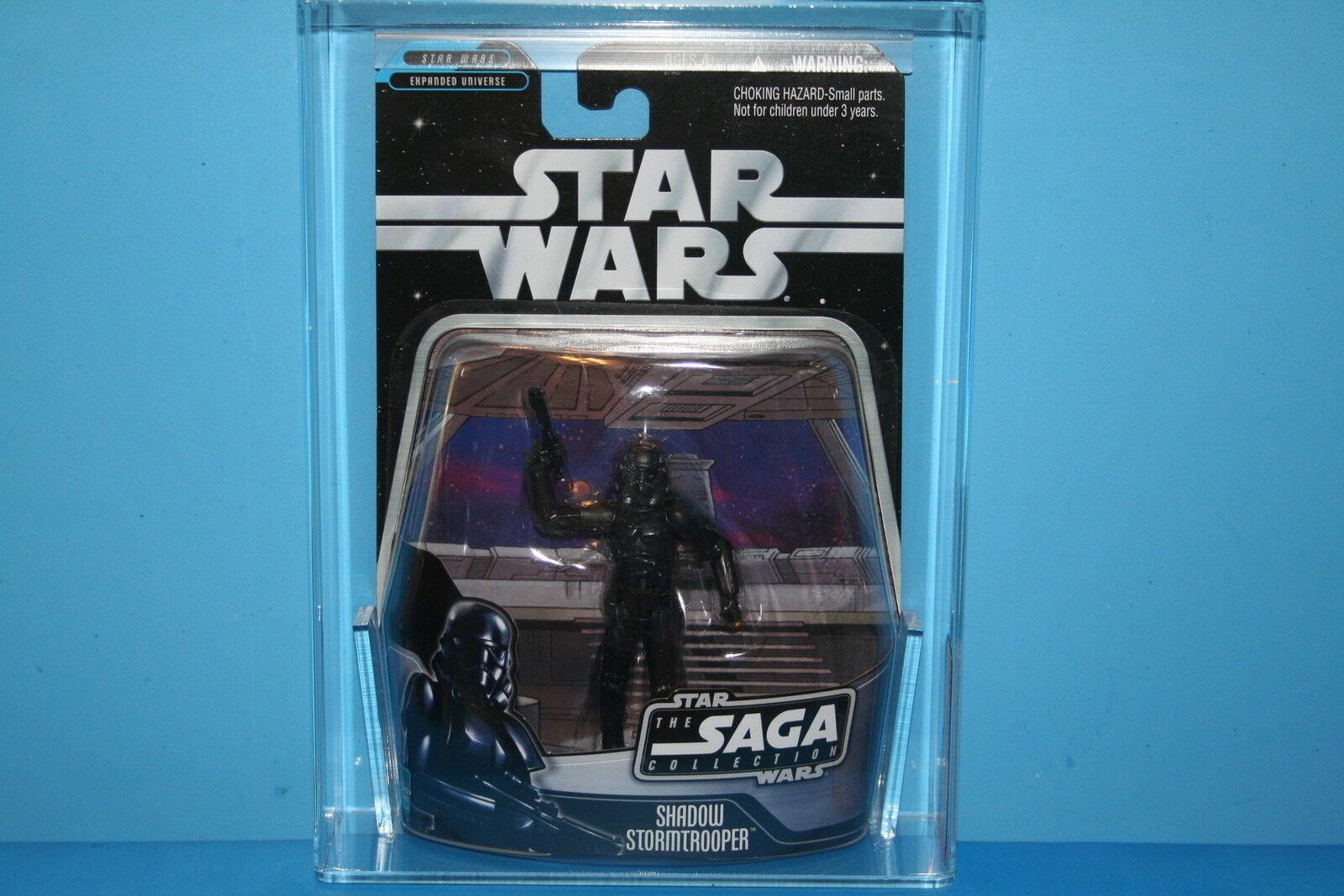 STAR WARS 06 Saga AFA classés Comme neuf on Card Shadow Stormtrooper exclusv 9.0 Figure