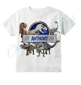 758c1bcce Image is loading Jurassic-World-Dinosaurs-Custom-T-shirt-PERSONALIZE-NAME-
