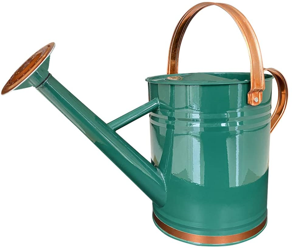 Galvanized Steel Watering Can Metal Watering Can for Outdoor Plants with Copper