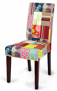Esszimmerstühle bunt  Stühle bunt Patchwork gepolstert Esszimmerstühle Kolonial Möbel ...