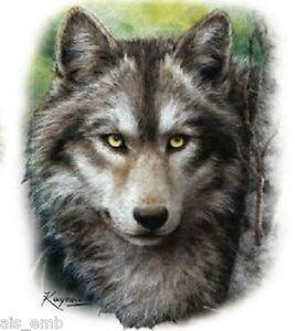Black Wolf HEAT PRESS TRANSFER PRINT for T Shirt Sweatshirt Tote Bag Fabric 222b
