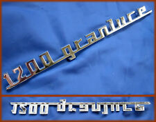 FIAT 1200 GRANLUCE - SCRITTA LOGO BADGE ZAMA CROMATA