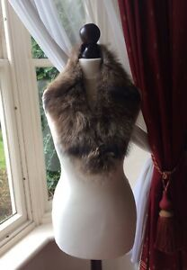 REDUCED-Vintage-Soft-Real-Fox-Fur-Scarf-Collar-Stole-FREE-UK-POSTAGE-Buy-Now