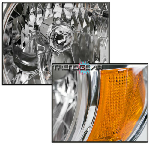 FOR 2005-2011 TOYOTA TACOMA PICKUP REPLACEMENT CHROME//AMBER HEADLIGHTS HEADLAMPS