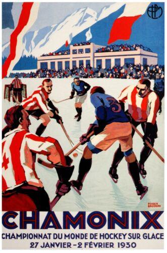 6858.Decoration Poster.Home interior.Room Wall art decor.Chamonix Hockey champs