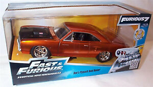 FAST & FURIOUS 7 Doms Plymouth Road Runner 1/24 SCALE DIECAST OPENING FEATURES
