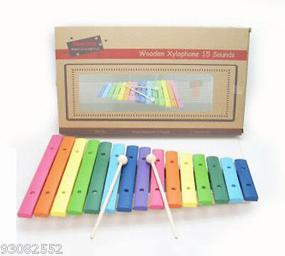 Wooden Large Multi Colour Xylophone  18mths +