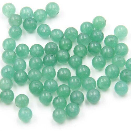 300Pcs Verde Aventurina gema granos encontrando