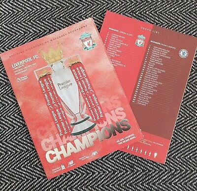 NOW POSTING LIVERPOOL v CHELSEA 22//7//2020 OFFICIAL   PROGRAMME
