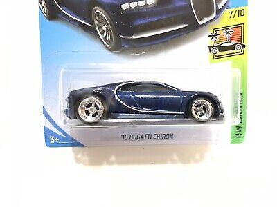 Last 2! Hot Wheels 16 Bugatti Chiron Blue - Real Riders