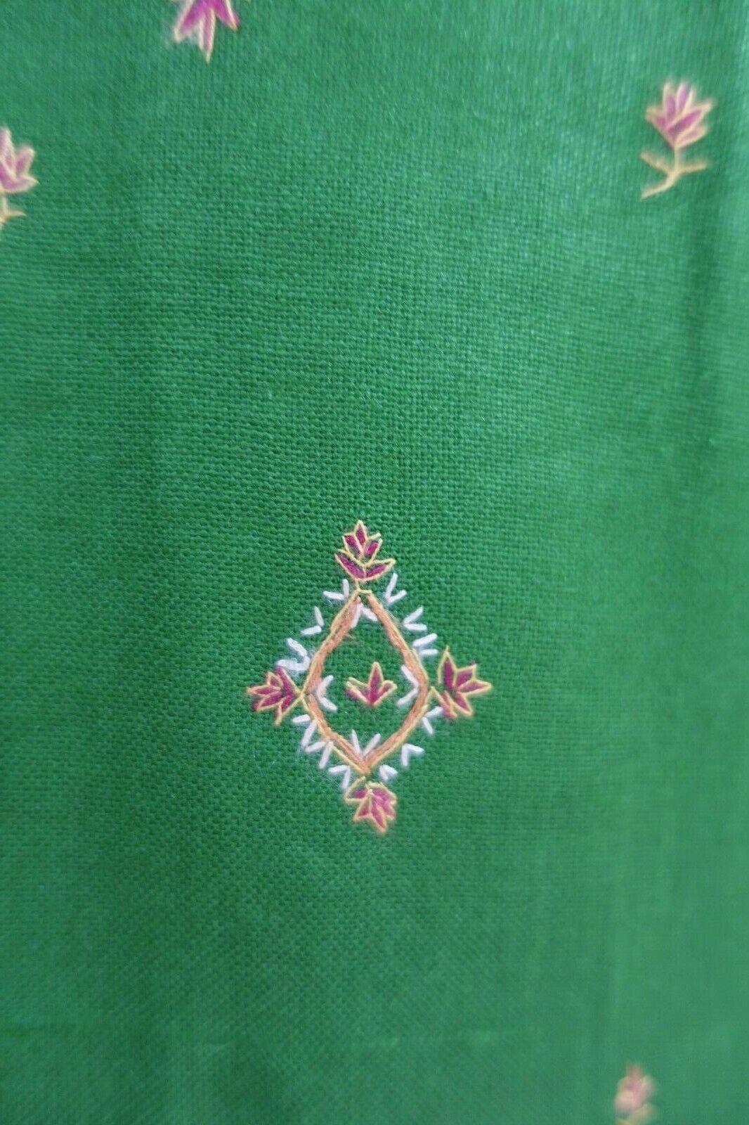 Green wool blend Kashmiri parsi Tunic kameez dress UK 12 / EU 38 SKU16411