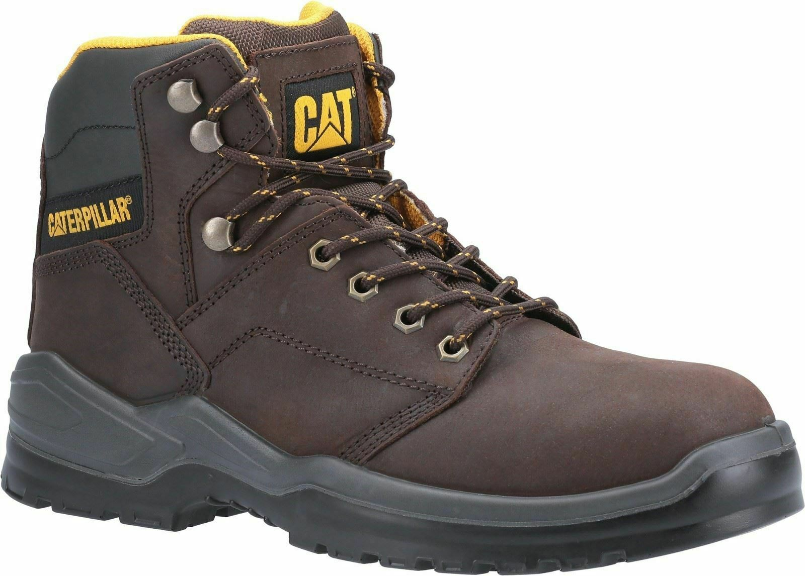 Caterpillar Brown Striver Lace Up Injected Safety Boots