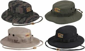 111e81c7575 Image is loading Boonie-Hat-Vietnam-Veteran-Embroidered -Military-Style-Rothco