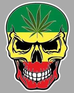 Tete de mort rasta reggae jamaique autocollant sticker 10cmx8cm sa170 ebay - Dessin de rasta ...