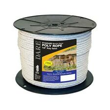 Dare Electric Fence Poly Rope White 6mm X 600 Ft