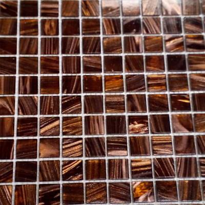 Glitter Bronze Mosaic Wall Tile 330mm X