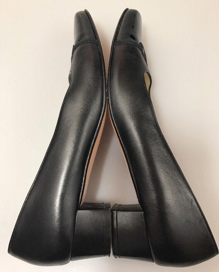 Salvatore Ferragamo Boutique Low Heel Pumps Sz 7.5 AAA Cap Toe Toe Cap Wear To Work ce7806