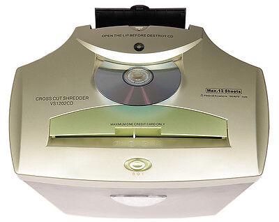 VS 1202CD Aktenvernichter für 12-14 Blatt, Partikelschnitt / CrossCut, auch CD's