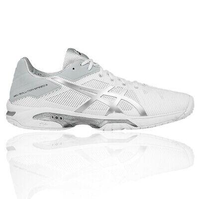 Asics Gel Solution Speed 3 Hommes Blanc Tennis Chaussures De Sport Baskets   eBay
