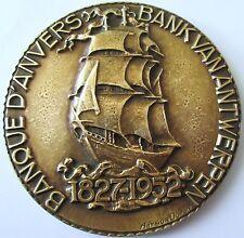 ANVERS.BANK VAN ANTWERPEN .1857 / 1952 .GRAVEUR ARTHUR DUPON .GRANDE MEDAILLE