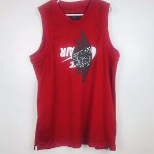 Nike-Air-Jordan-Jumpman-Classic-Wings-Tank-top-Men-s-Size-L-Jersey-Red-New