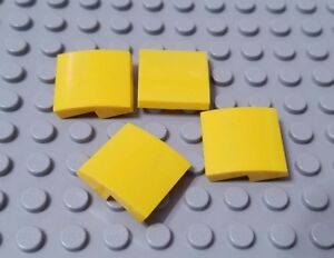 New LEGO Lot of 4 Dark Orange 2x2 Curved Slope Pieces