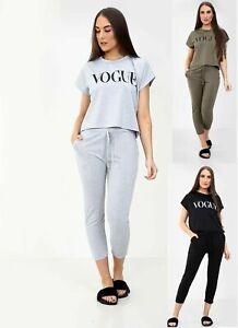 Womens Ladies Short Sleeve BOXY Tracksuit VOGUE Tracksuit Loungewear 2PCS Set