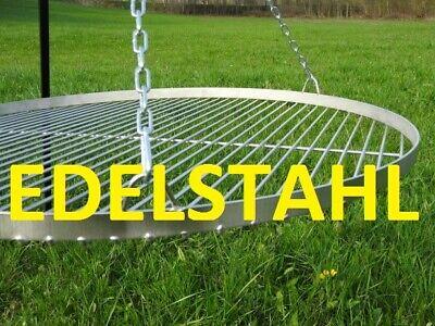 EDELSTAHLFläche 70cm Höhe 200cm Schwenkgrill Gartengrill Dreibein Holzkohlegril