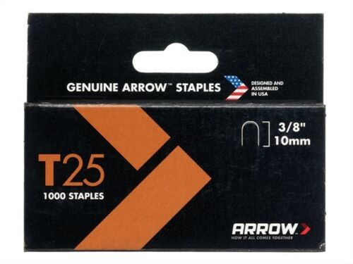 3 // 8in T25 Agrafes 10mm Boîte de 1000-main tackers /& opticiens-arrt2538