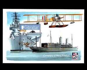 "Gibraltar - ""WAR SHIPS ~ FLY NAVY ~ CENTENARY OF NAVAL AVIATION"" MNH MS 2009 !"