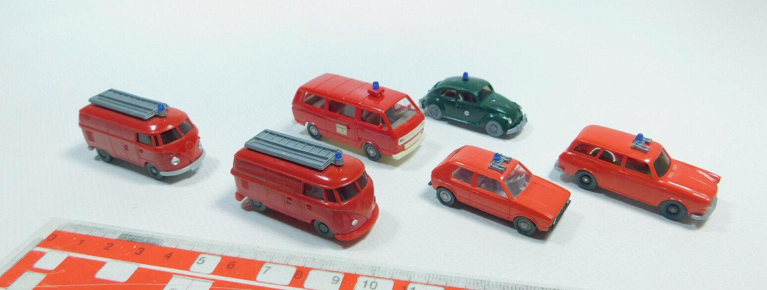 Bk49-0, 5  6x Wiking h0 1 87 Pompiers FW Modèle  Opel  Volkswagen VW, 2. Choix