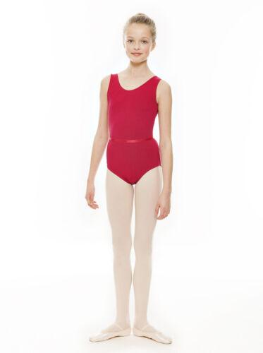 All Colours Girls Cotton Sleeveless Ballet Tap Dance Leotard KDC036 By Katz