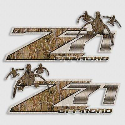 Custom Whitetail Buck Z71 offroad hunting vinyl decal set