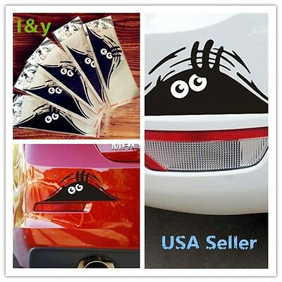1x Car Vehicle Vinyl Decals Stickers cute funny peeper black for car body/window