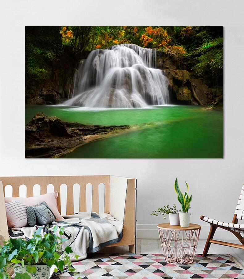 3D Wasserfall SEE 62 Fototapeten Wandbild BildTapete AJSTORE DE Lemon