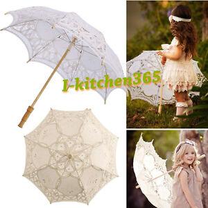 Handmade-Cotton-Lace-Parasol-Umbrella-Hand-Fan-For-Bridal-Wedding-Bridal-Party