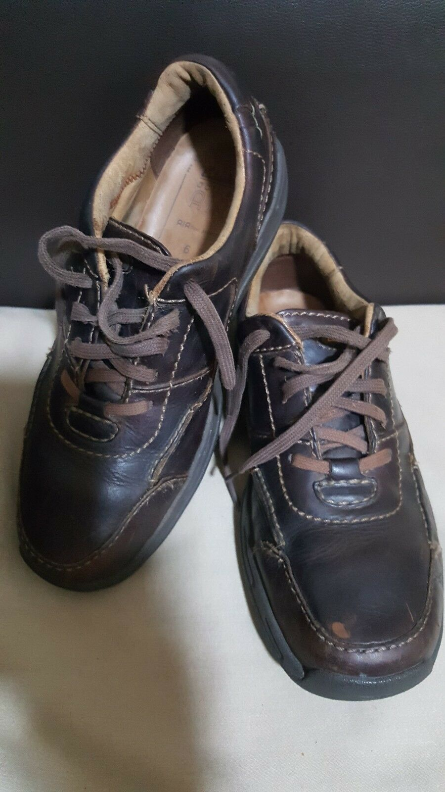 Clarks Active Air flow system Brown Soft Leather shoes size UK 6  EU 40-
