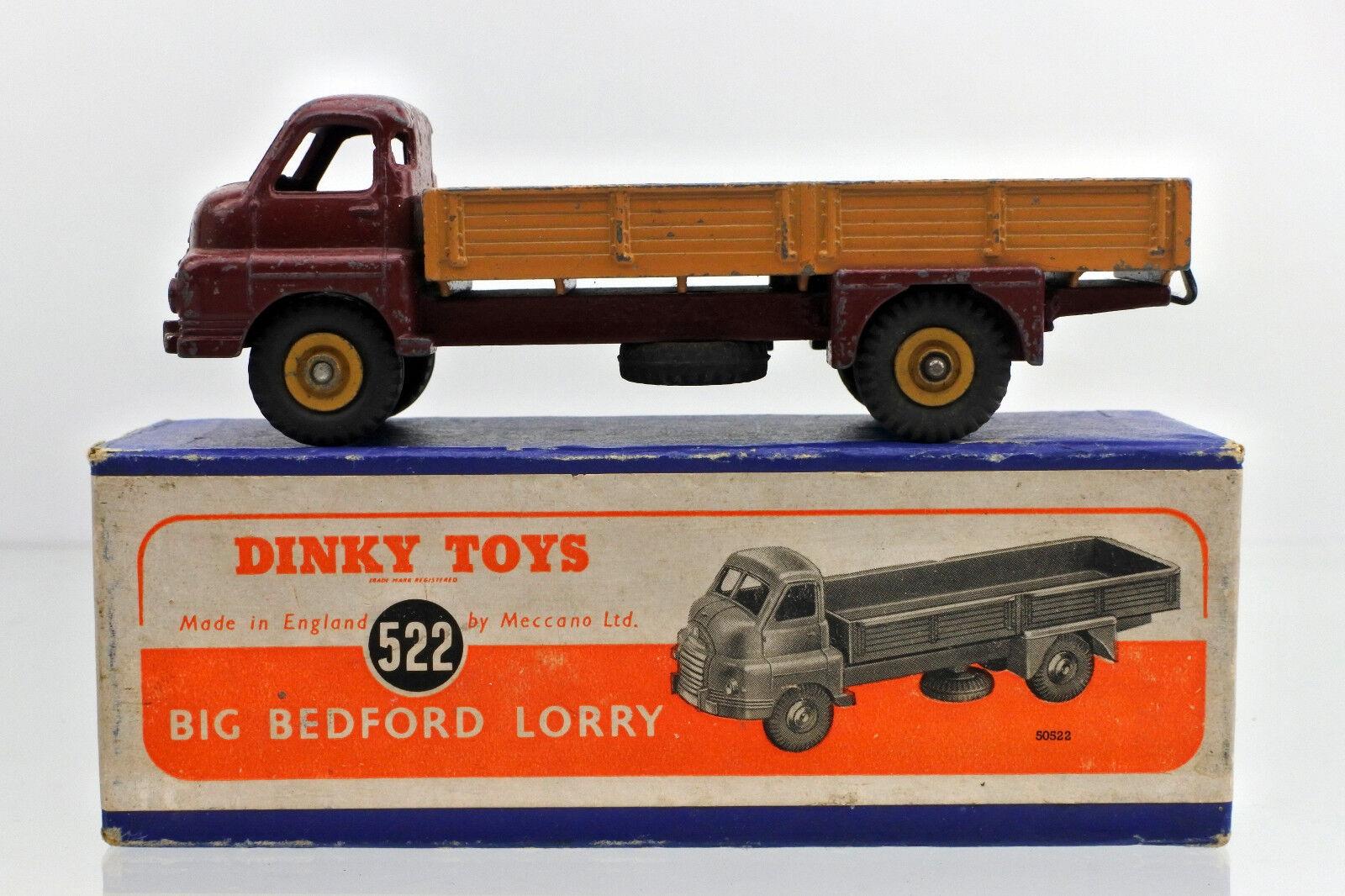 DINKY 522 DIECAST MAROON TAN BIG BEDFORD LORRY