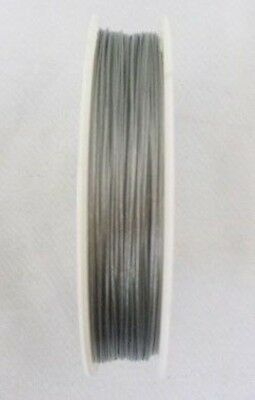 3 Rolls of Silver Tiger Tail Beading Wire 0.38mm C82