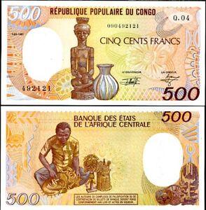 CONGO-REPUBIC-500-FRANCS-1991-P-8-UNC