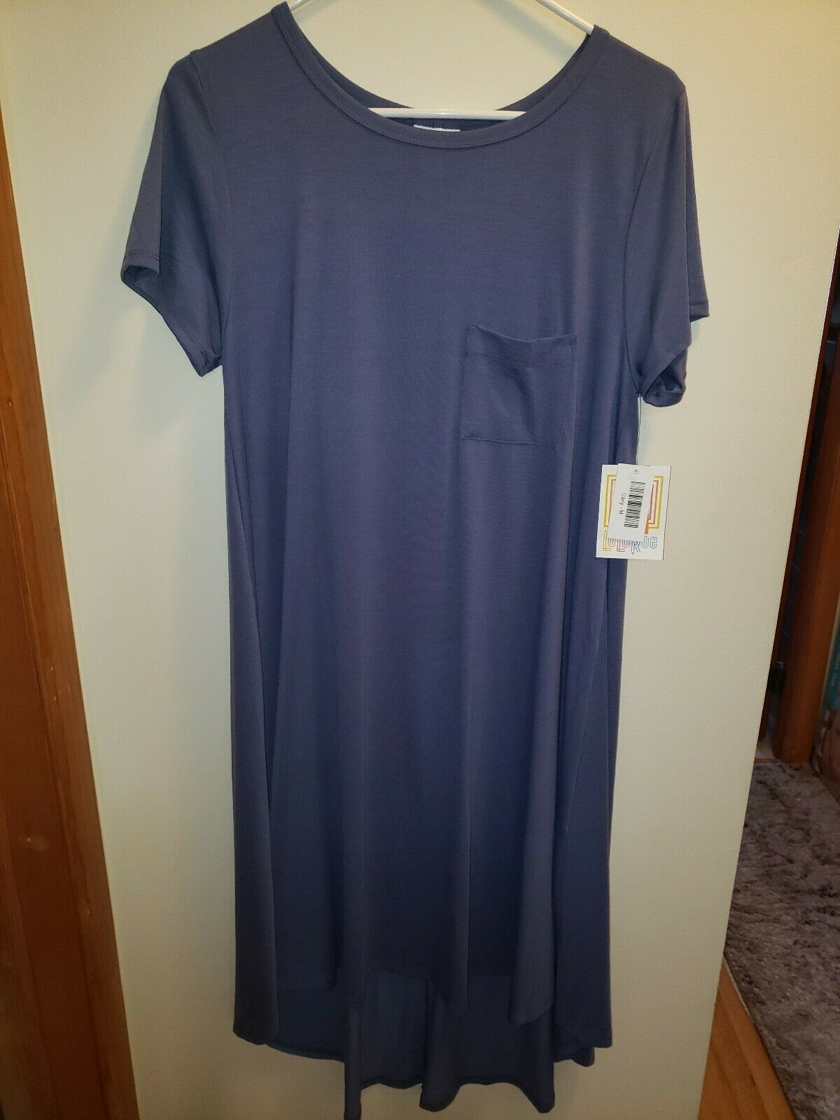 LuLaRoe NWT M Purple Periwinkle colord Carly