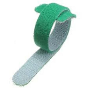 VELCRO-Brand-ONE-WRAP-5-x-20mm-x-200mm-Cable-Tie-GREEN-Double-Sided-Strapping