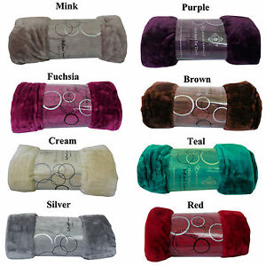 Faux Fur Mink Blanket Sofa Bed Throw Single Double  Mink Throw Diff Colours**New